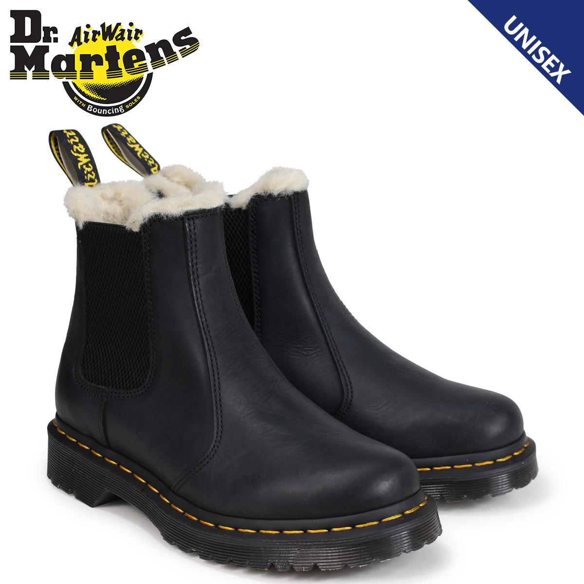 【最大2000円OFFクーポン】 ドクターマーチン サイドゴア 2976 チェルシーブーツ メンズ レディース Dr.Martens LEONORE FUR LINED CHELSEA BOOT ブラック R21045001
