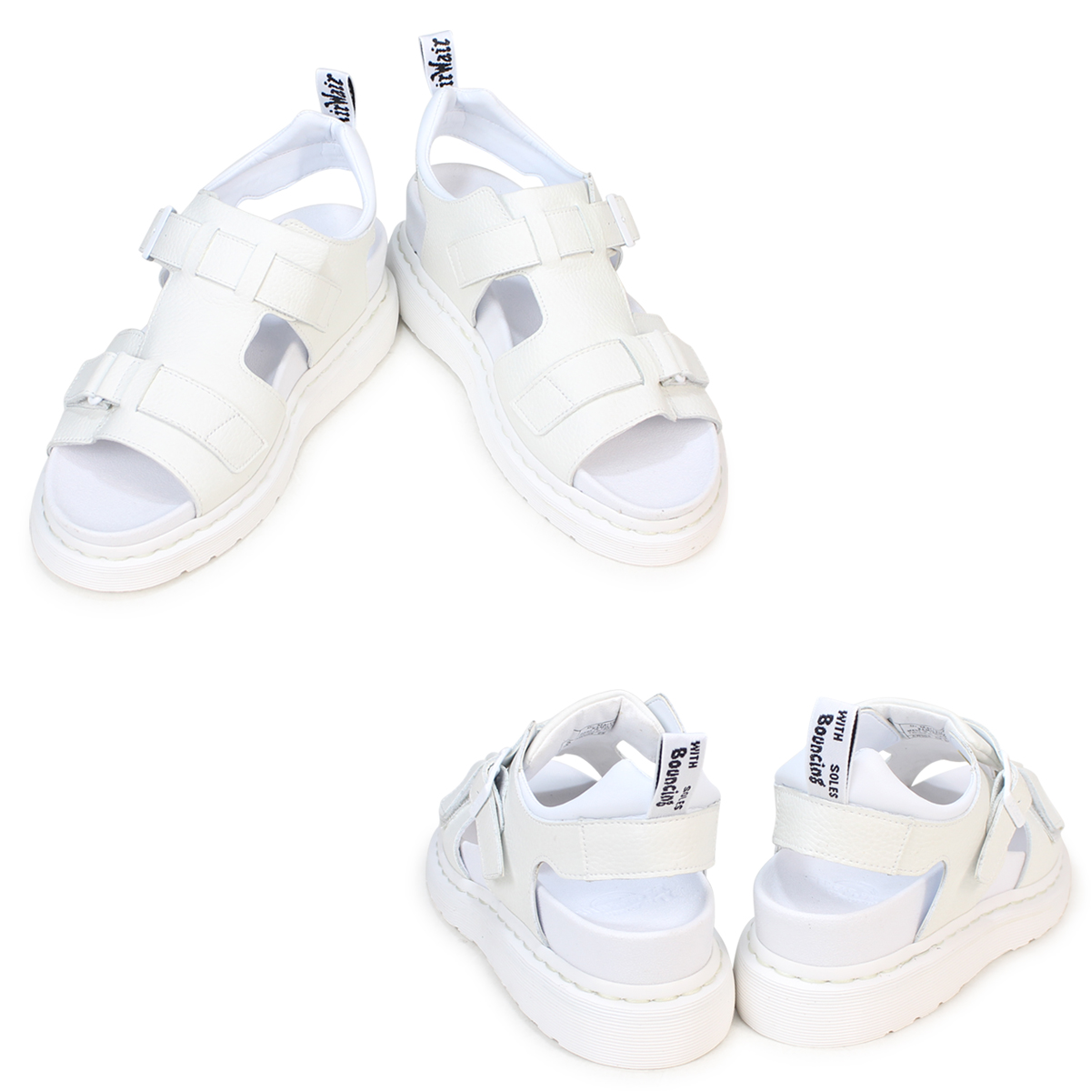 博士马丁凉鞋女士人Dr.Martens皮革SHORE KAMILAH 2 STRAP SANDAL 21895100白[3/29新进货]