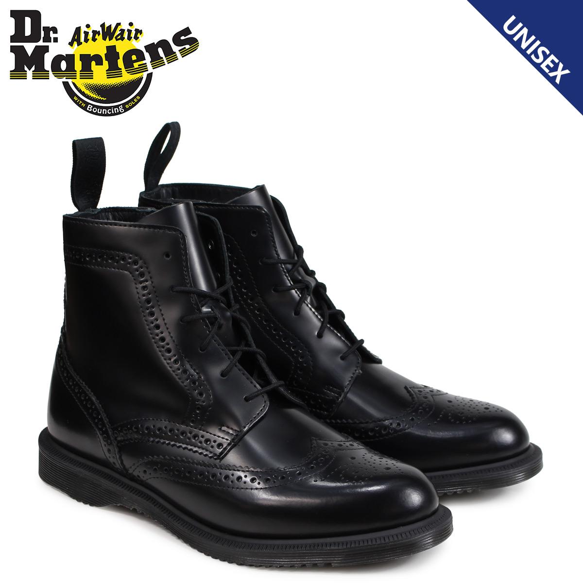 Cena hurtowa dla całej rodziny informacje dla Doctor Martin Dr.Martens 6 hall boots Lady's men DELPHINE BROGUE BOOT black  R22650001