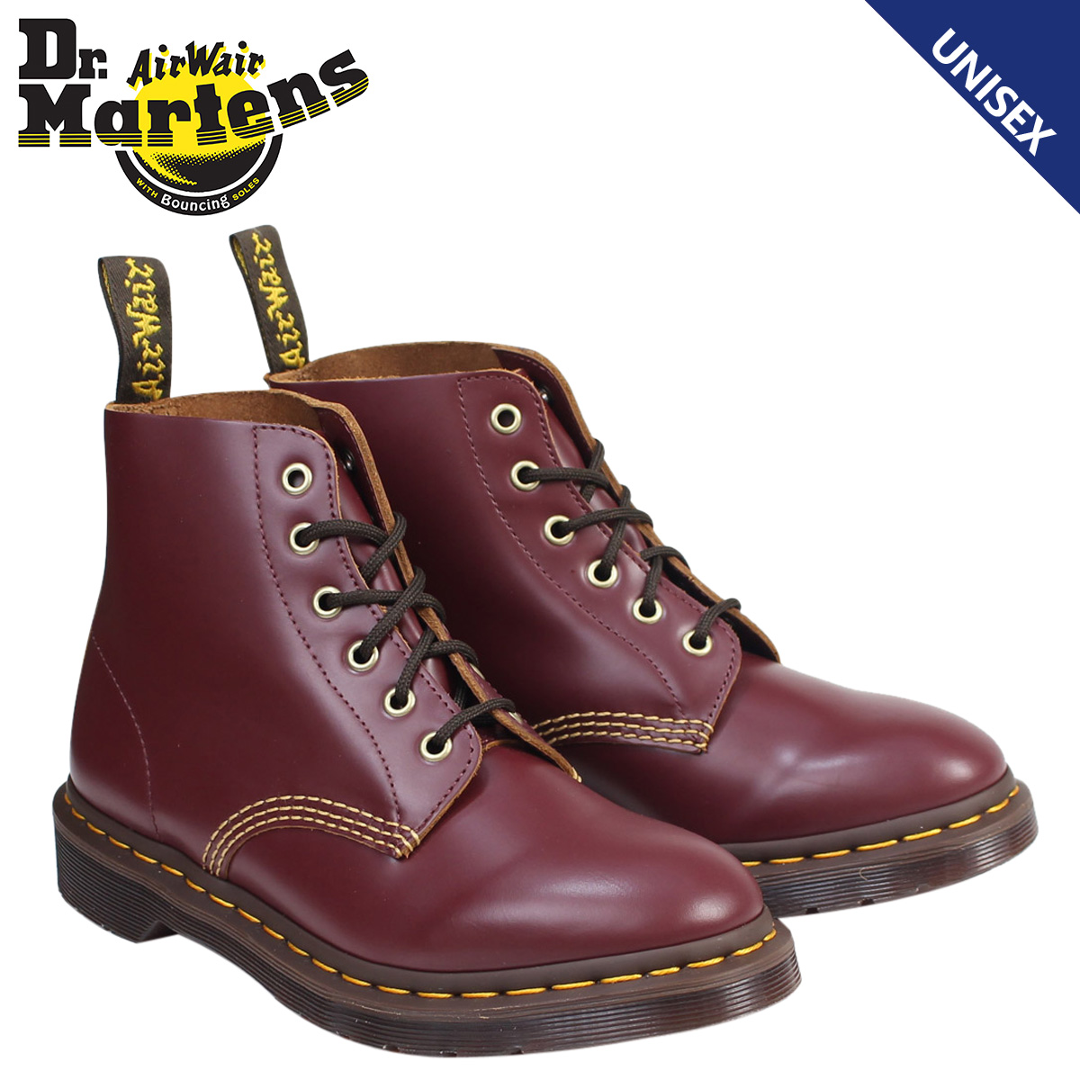 Doctor Martin 6 hall men gap Dis Dr.Martens boots ARCHIVE 101 6EYE BOOT R22701601 red