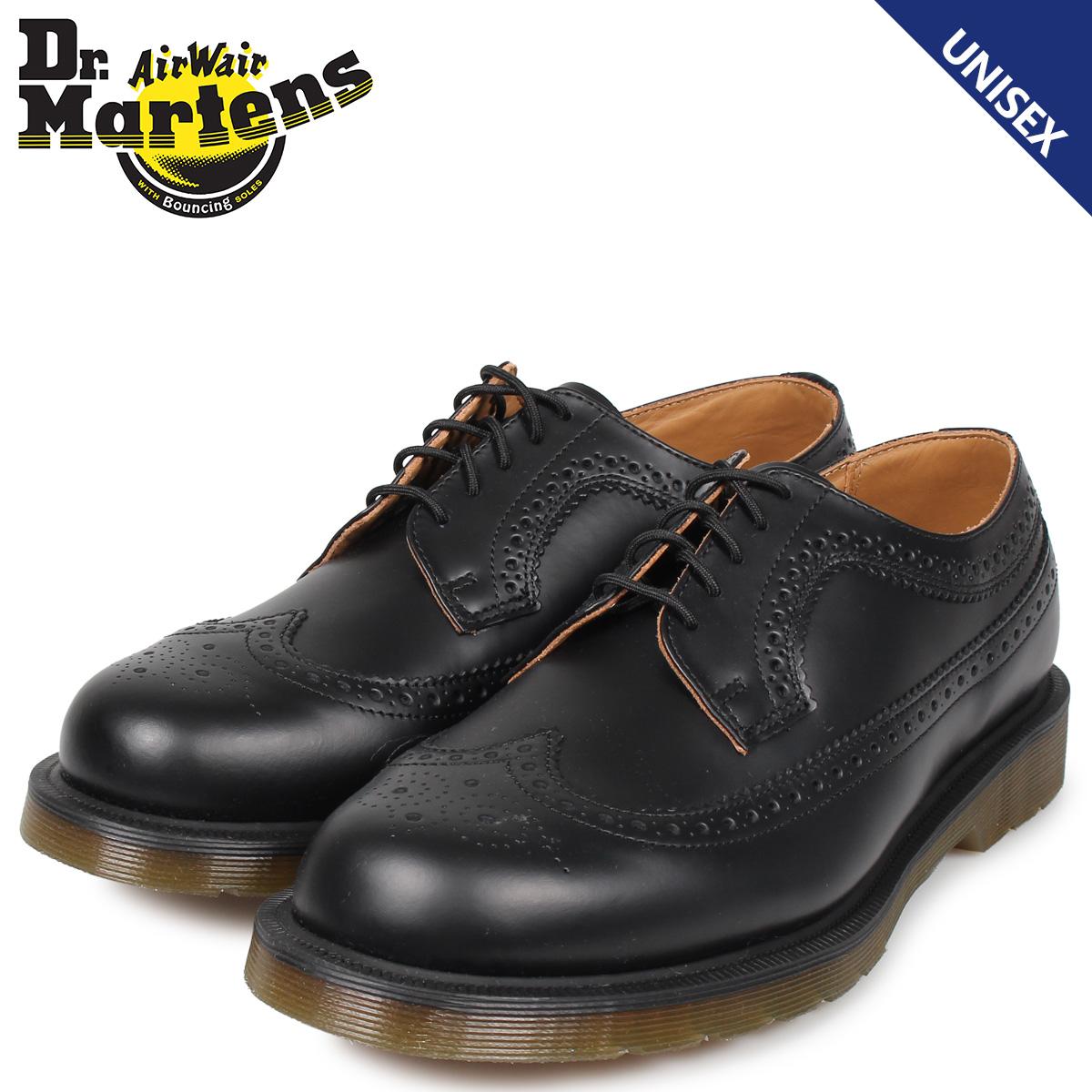 ドクターマーチン Dr.Martens ウイングチップ メンズ レディース 3989 SMOOTH ブラック R24340001