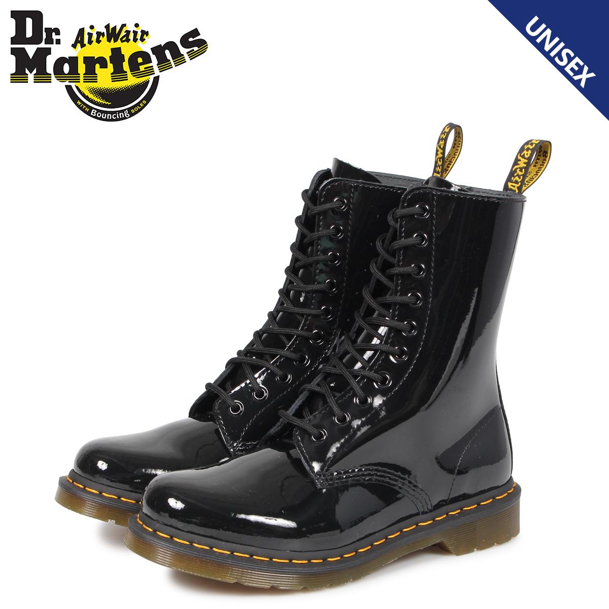 【送料無料】 【あす楽対応】 【21.5cm-28cm】 ドクターマーチン Dr.Martens 1490 10EYE ワークブーツ 靴 【最大2000円OFFクーポン】 ドクターマーチン Dr.Martens 10ホール 1490 W ブーツ メンズ レディース PATENT LAMPER 10EYE BOOT ブラック 黒 R25277001