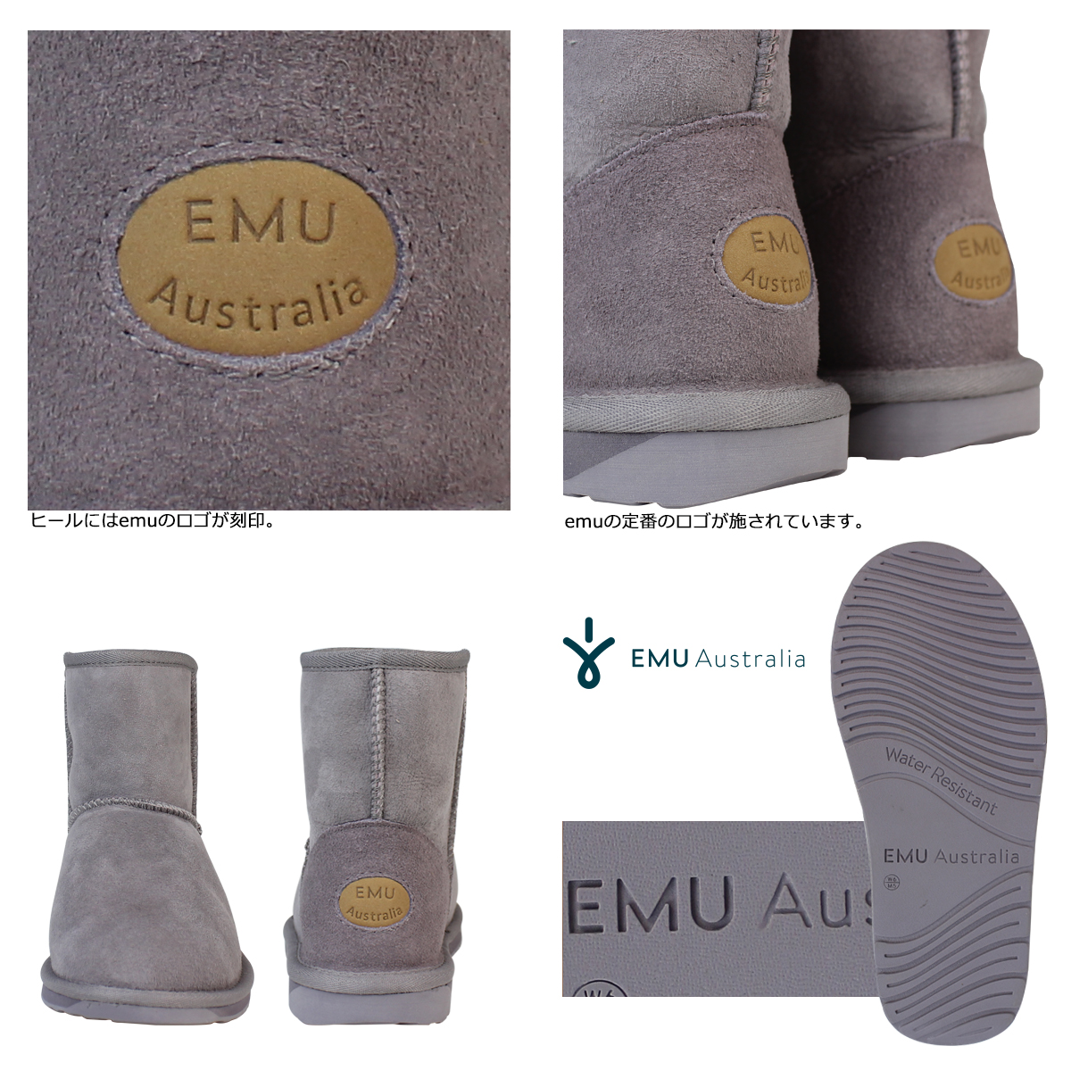 EMU EMU Stinger mini Sheepskin boots W10003 STINGER MINI Sheepskin Womens mens boots