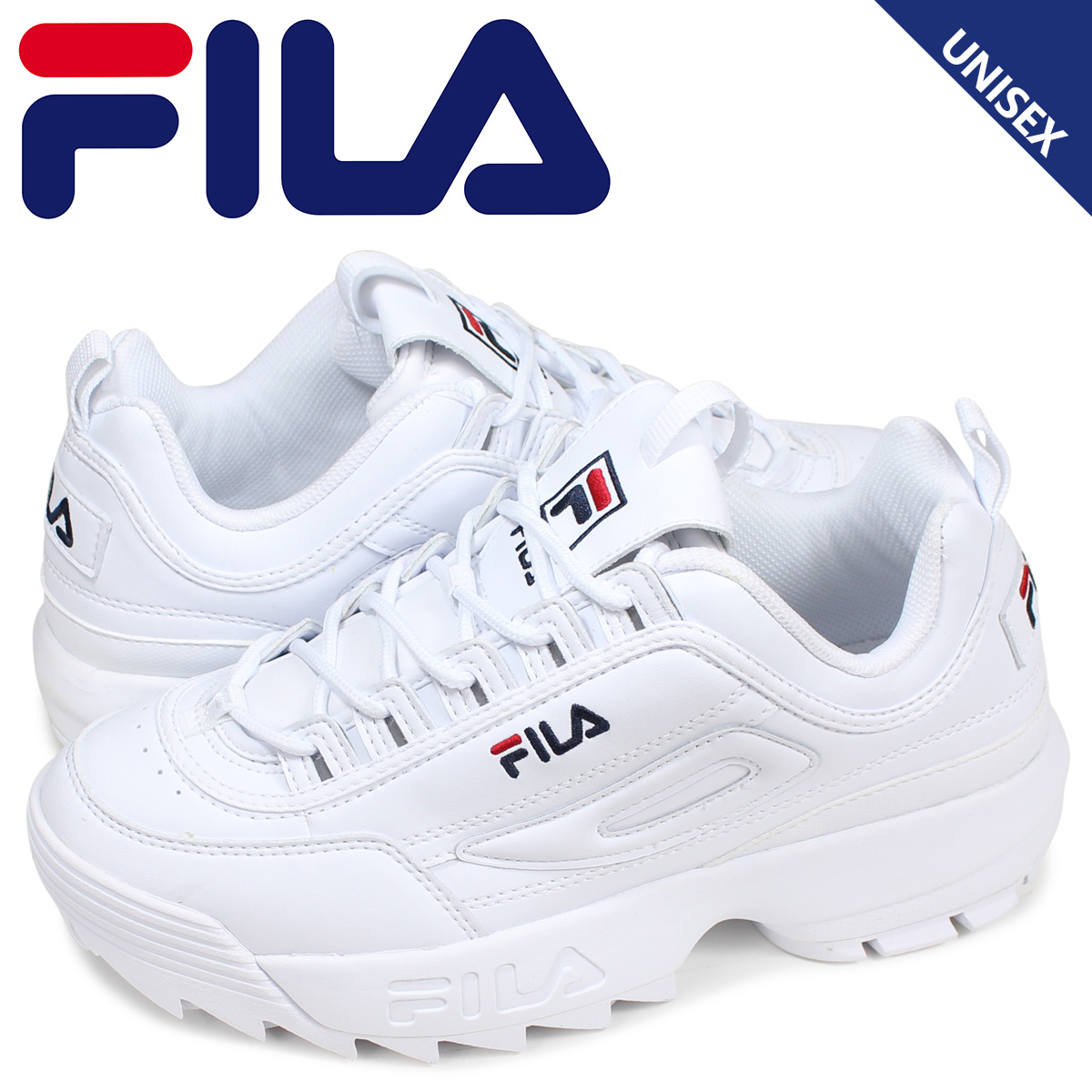 fashionable style huge range of huge sale FILA フィラディスラプター 2 sneakers men gap Dis DISRUPTOR 2 white white FS1HTB1071X
