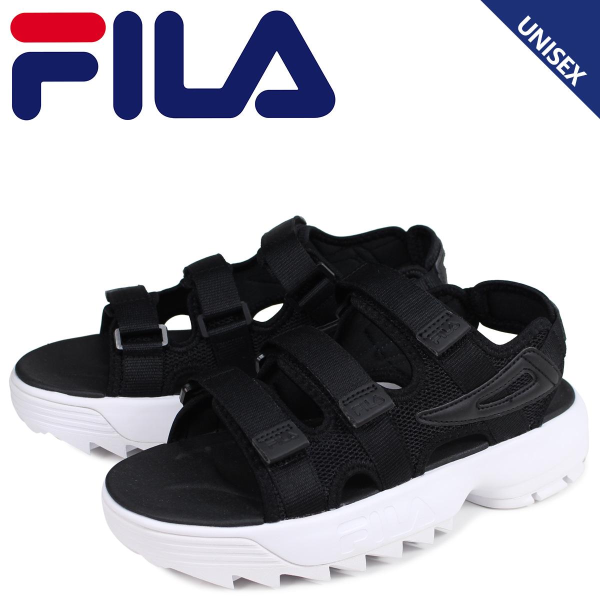 FILA フィラ ディスラプター サンダル スポーツサンダル メンズ レディース 厚底 DISRUPTOR SD ブラック 黒 FS1SPB2011X-BBK