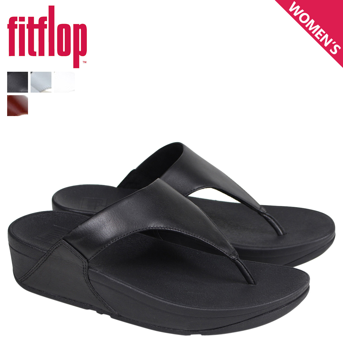 cff380f13 FitFlop sandals fitting FLOP Lulu LULU LEATHER TOE POST SANDALS Lady s I88  black gray brown  4 4 Shinnyu load