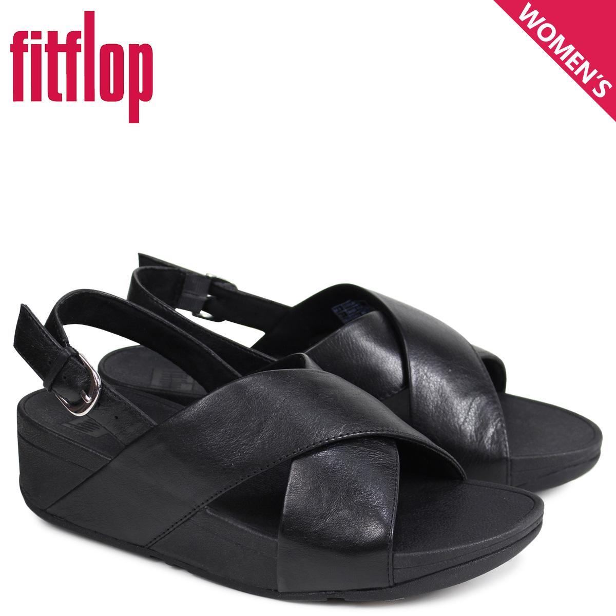 3a3f94db7 FitFlop fitting FLOP sandals Lulu LULU CROSS BACK-STRAP SANDALS LEATHER  Lady s K03 black