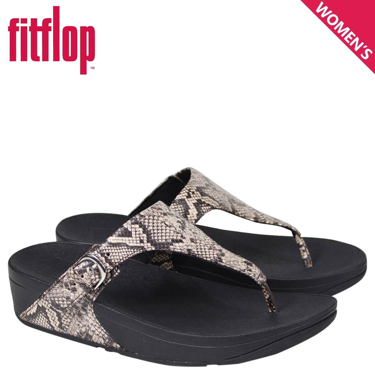 e2d8cde80aa9 SneaK Online Shop  FitFlop sandals fitting FLOPS Kinney SKINNY TOE-THONG  SANDALS SNAKE PRINT LEATHER Lady s L69 black  4 4 Shinnyu load