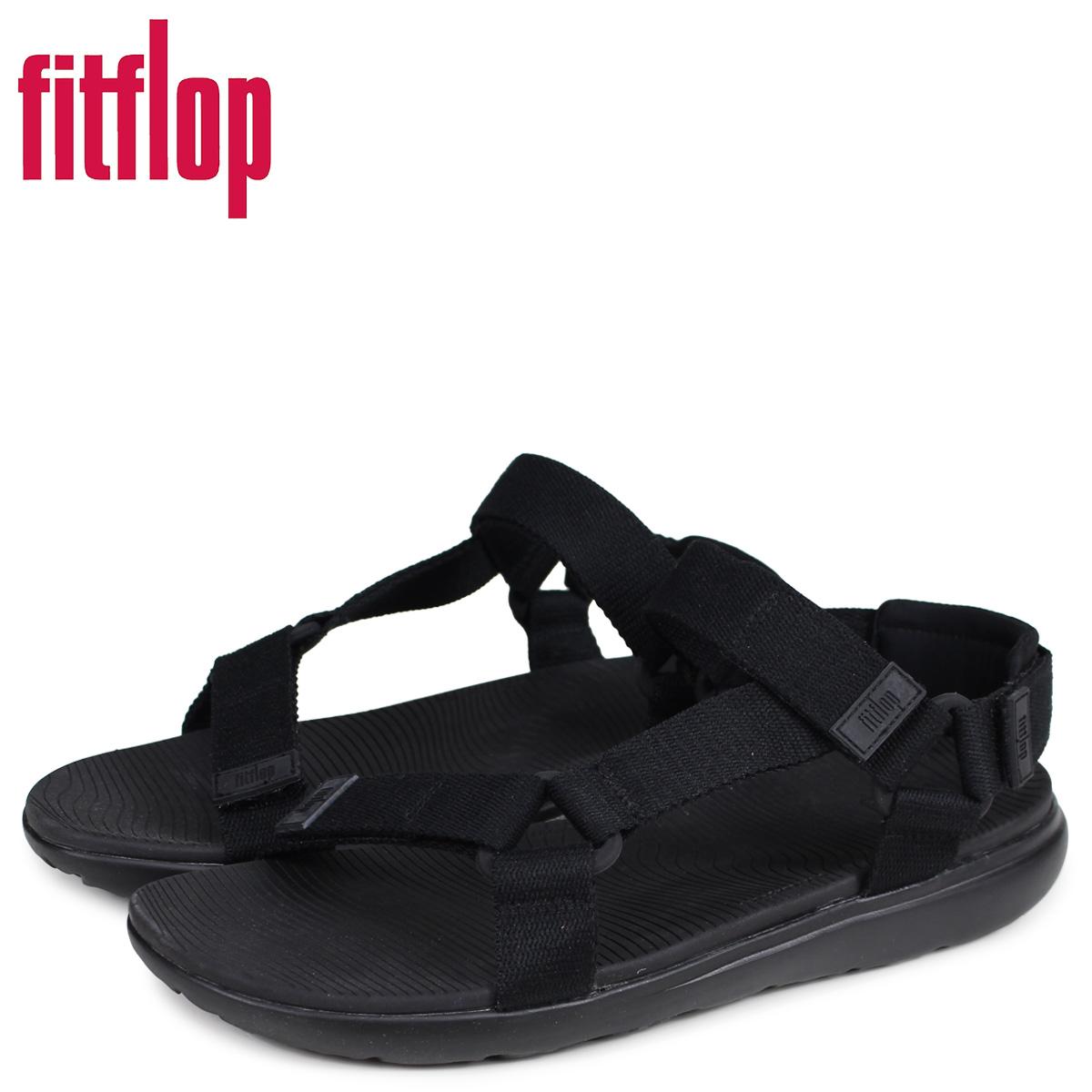【最大2000円OFFクーポン】 FitFlop フィットフロップ サンダル スポーツサンダル ブリース メンズ BREES ブラック 黒 V91