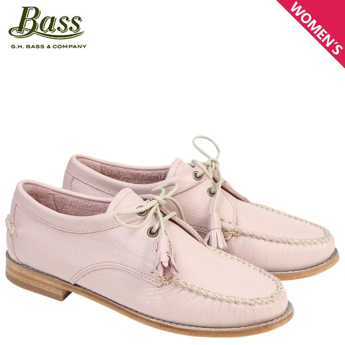 G.H. BASS ローファー ジーエイチバス レディース タッセル WINNIE TIE WEEJUNS 71-22871 ピンク