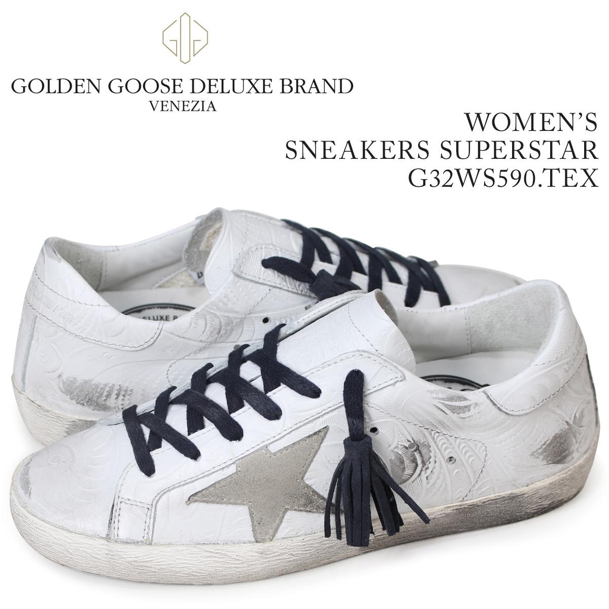 ゴールデングース Golden Goose スニーカー レディース スニーカー ズ スーパースター SNEAKERS SUPERSTAR ホワイト G32WS590 TEX