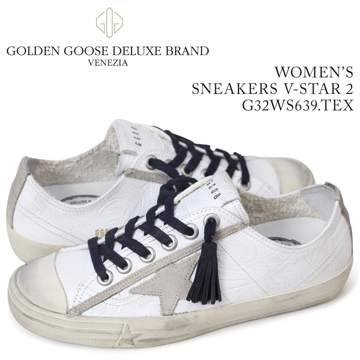 ゴールデングース Golden Goose スニーカー レディース スニーカー ズ ブイスター SNEAKERS V-STAR 2 ホワイト G32WS639 TEX