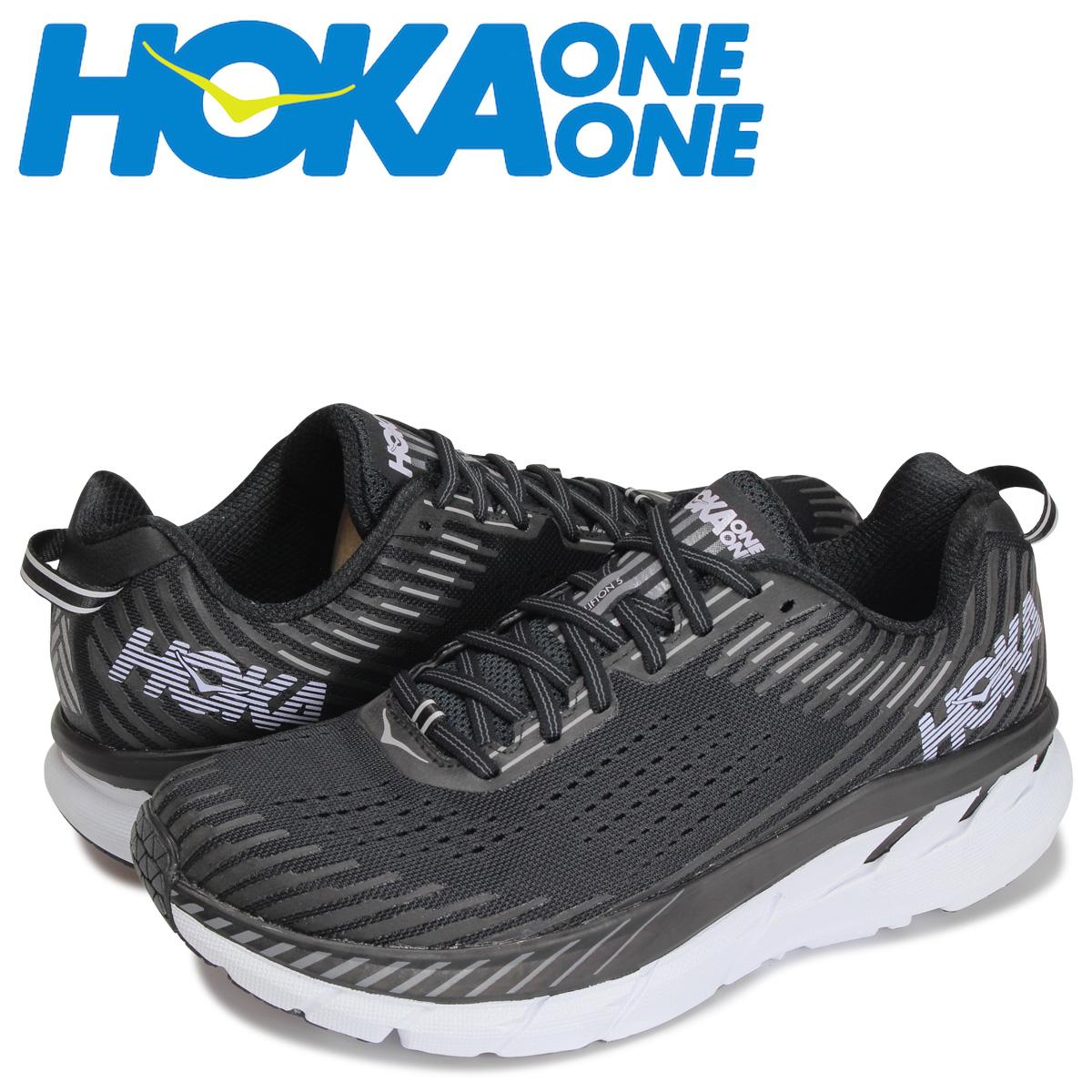 HOKA ONEONE ホカオネオネ クリフトン 5 スニーカー メンズ 厚底 CLIFTON 5 ブラック 黒 1093755