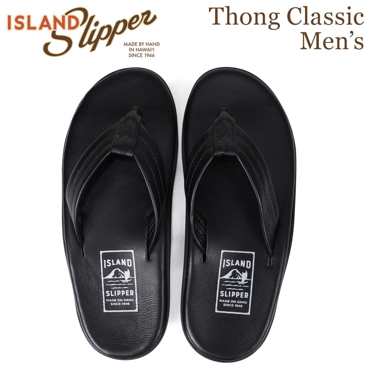 アイランドスリッパ ISLAND SLIPPER サンダル トングサンダル クラシック メンズ レザー THONG CLASSIC ブラック PB202