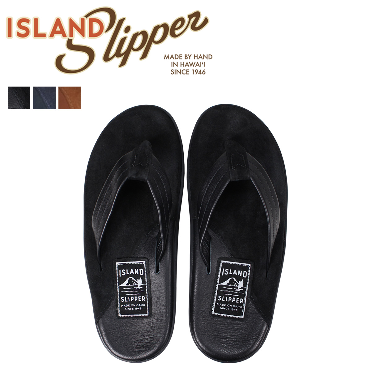 アイランドスリッパ ISLAND SLIPPER サンダル トングサンダル メンズ スエード レザー LEATHER SUEDE PB205 PT205