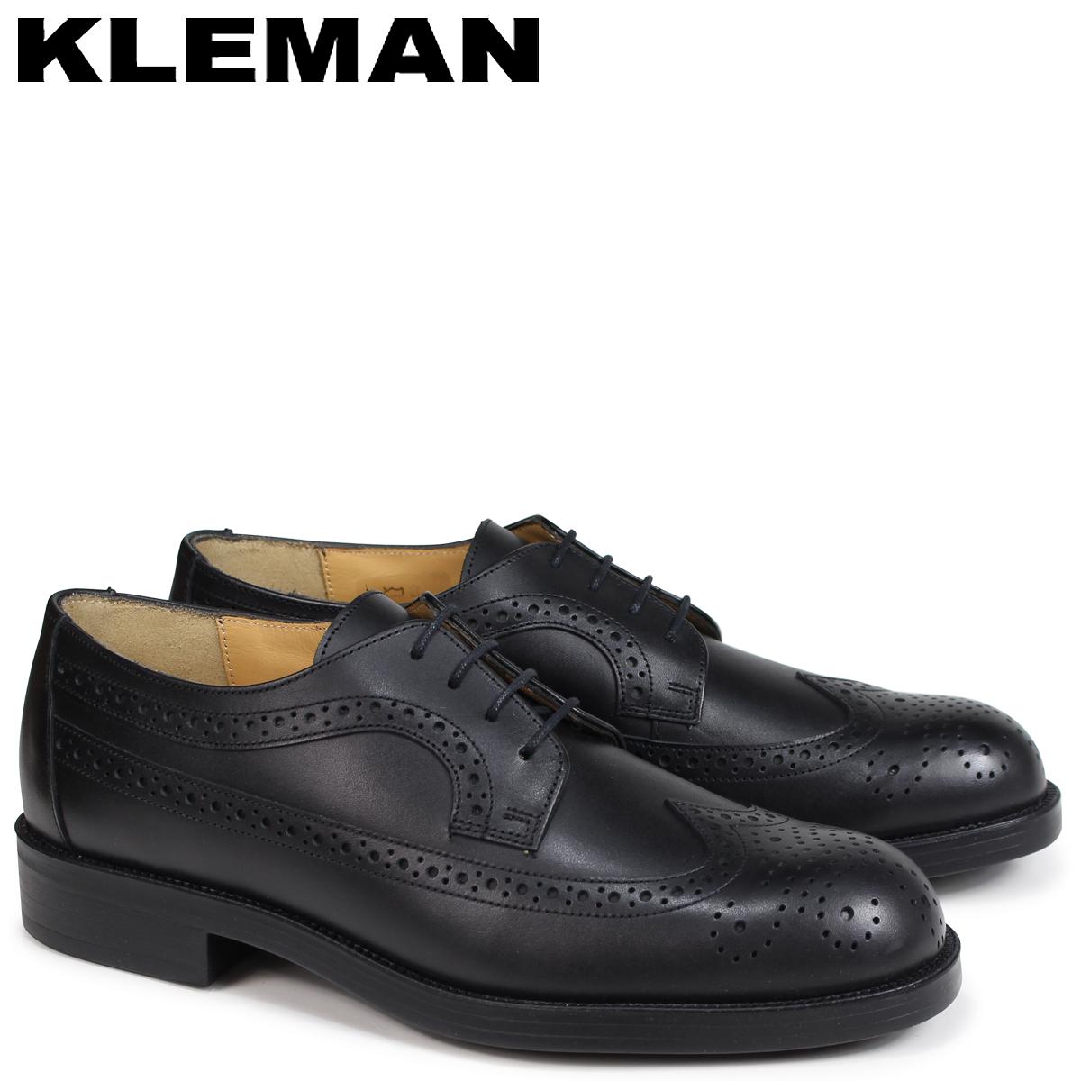 KLEMAN クレマン SUFOLO 靴 ウイングチップ シューズ WING TIP SHOES ブラック VA75102 [9/25 新入荷]