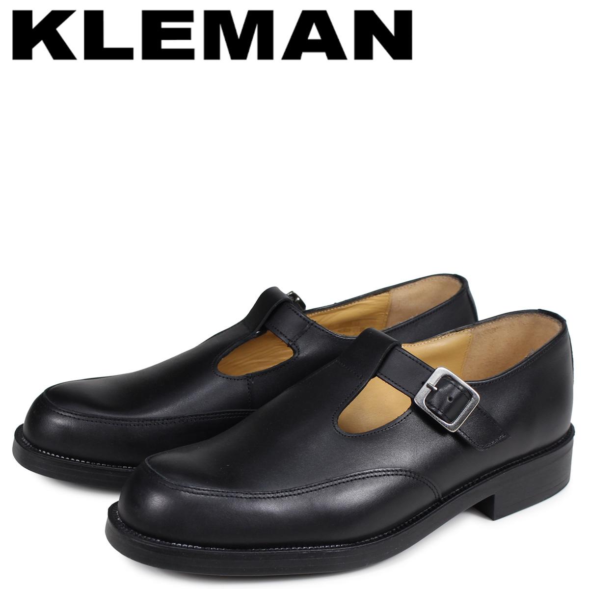 KLEMAN クレマン デイジー 靴 Tストラップ シューズ メンズ DAISY OR ブラック 黒 XA54102