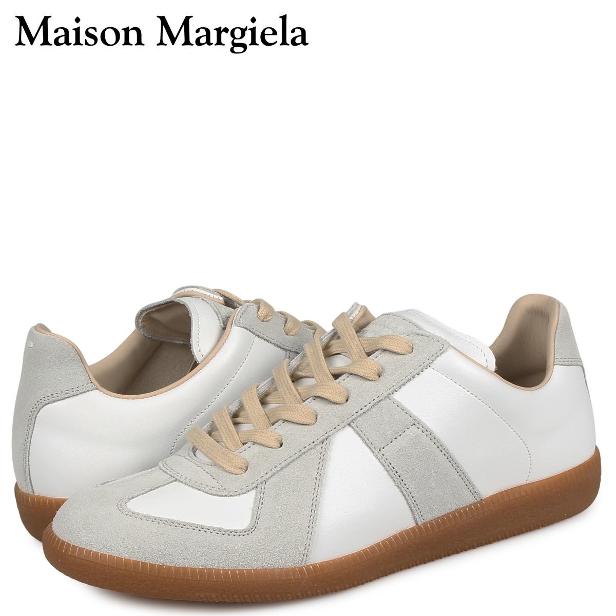 メゾンマルジェラ MAISON MARGIELA レプリカ ロートップ スニーカー メンズ REPLICA LOW TOP オフ ホワイト S57WS0236-P1895 [3/3 再入荷]