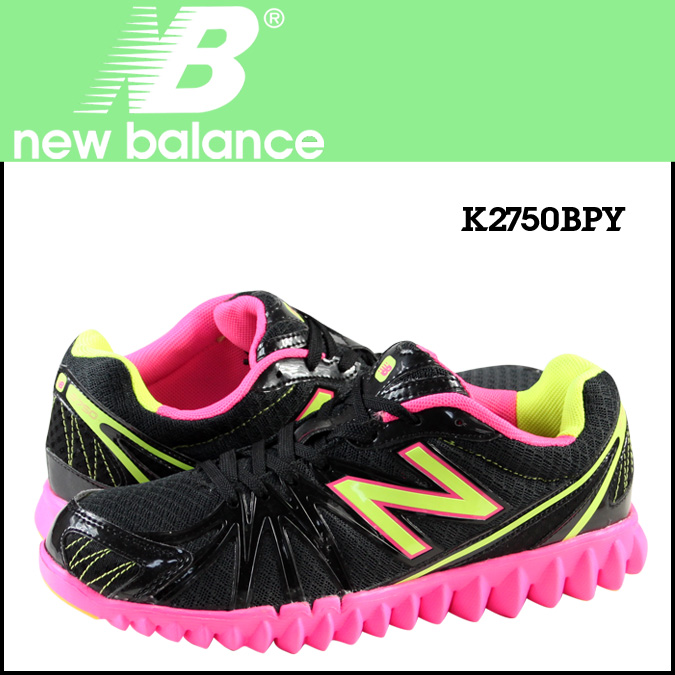 New balance new balance K2750BPY kids women's sneakers M wise mesh / synthetic leather