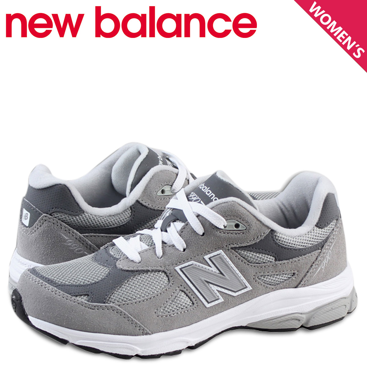 timeless design 177e2 86c5f New Balance new balance 990 kids Lady's sneakers KJ990GRG M Wise gray