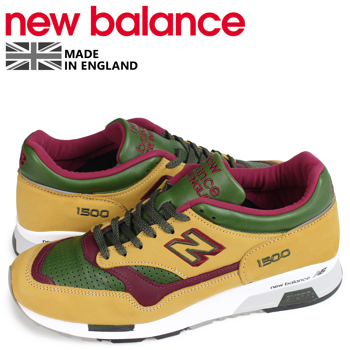 new arrival 3e0e4 fad10 New Balance new balance 1500 men's sneakers M1500TGB D Wise MADE IN UK brown