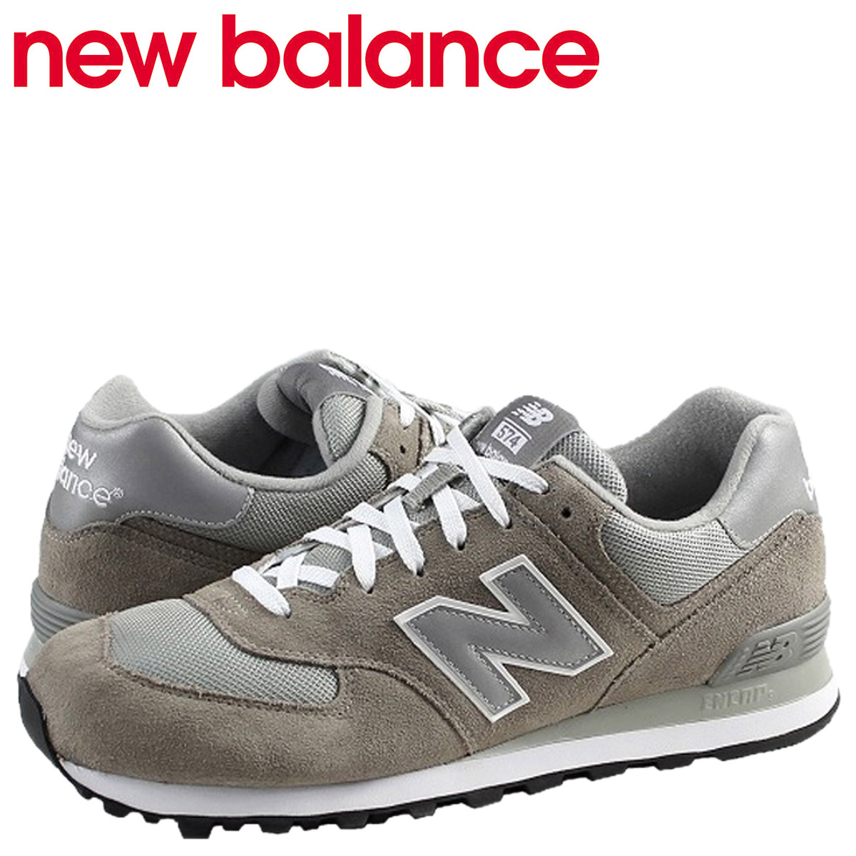 info for 94b8a 76fb9 New Balance new balance 574 men's sneakers M574GS D Wise gray