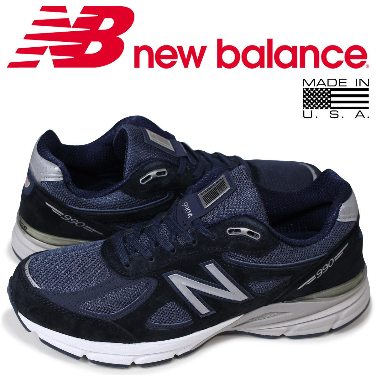 ニューバランス 990 メンズ new balance スニーカー M990NV4 Dワイズ ネイビー MADE IN USA