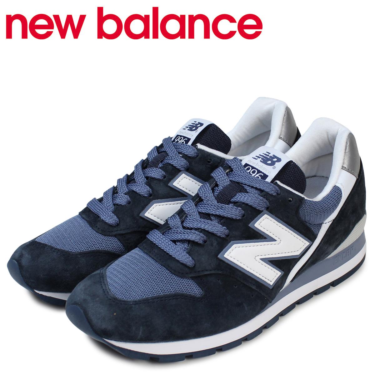 pas cher pour réduction e0b82 ae418 New Balance new balance 996 men's navy sneakers M996CPI D Wise USA