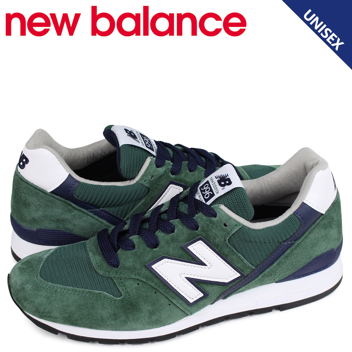 new concept 17ebf 71072 New Balance new balance 996 men s lady s sneakers USA M996CSL D Wise green  ...