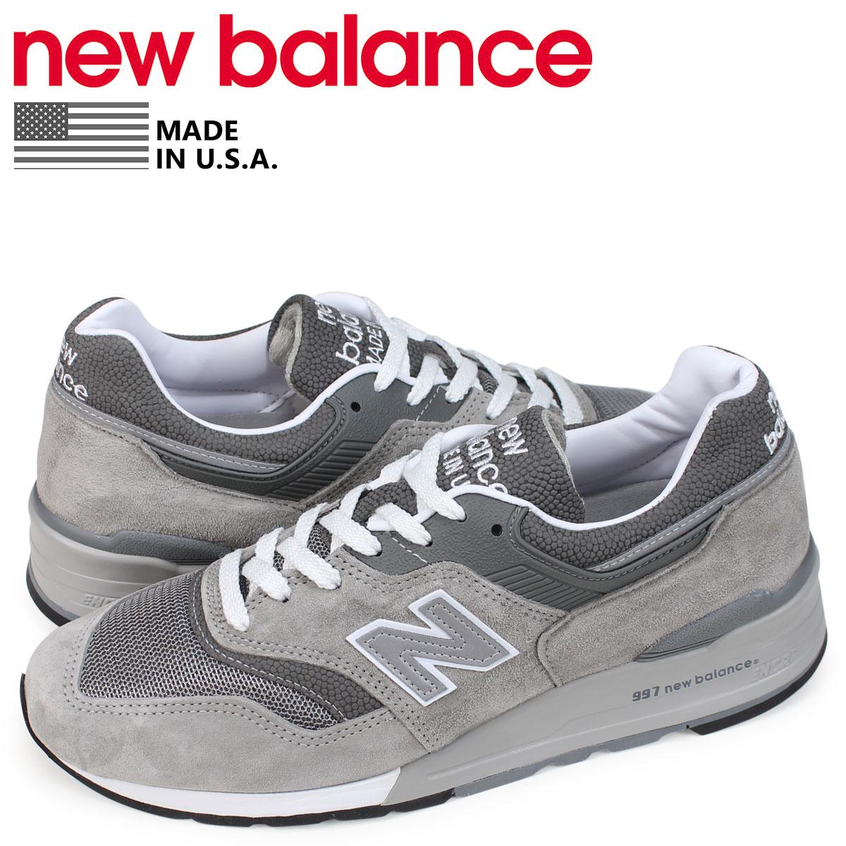 【最大2000円OFFクーポン】 ニューバランス new balance 997 スニーカー メンズ Dワイズ MADE IN USA グレー M997GY [2/5 追加入荷]