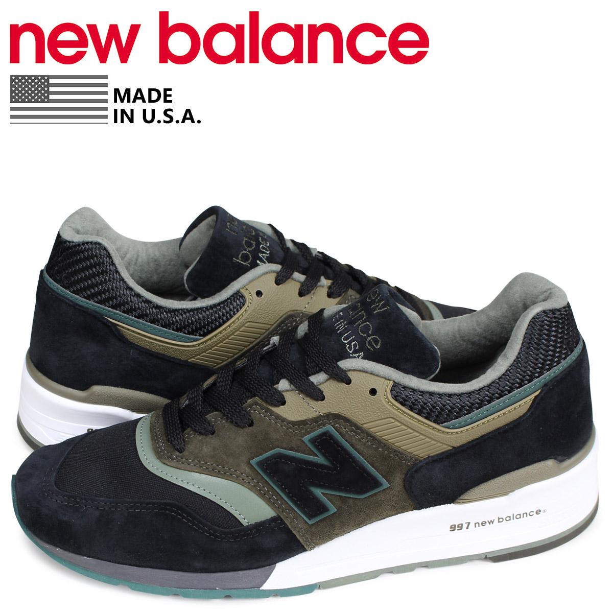 ニューバランス new balance 997 スニーカー メンズ Dワイズ MADE IN USA ブラック 黒 M997PAA