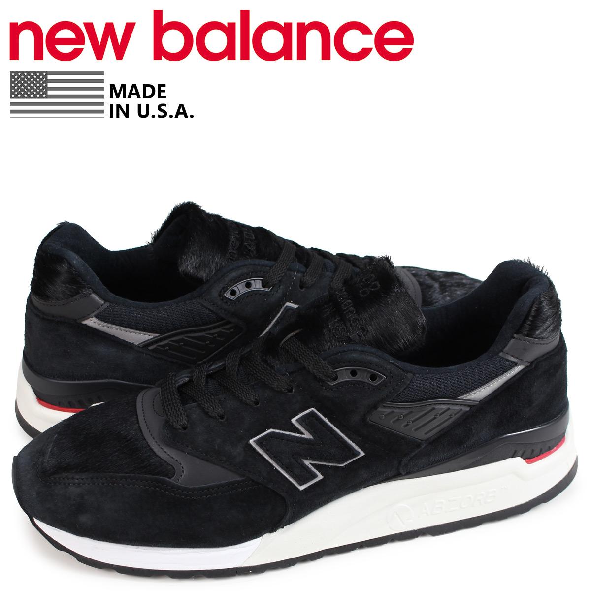 ニューバランス new balance 998 メンズ スニーカー M998TCB Dワイズ MADE IN USA ブラック