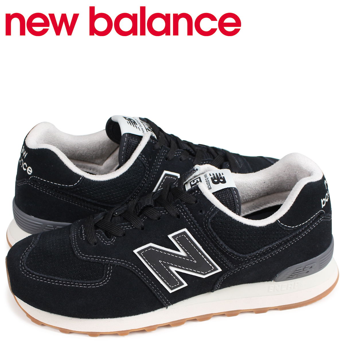 promo code 23049 14de9 New Balance new balance 574 men's sneakers ML574ESE D Wise black