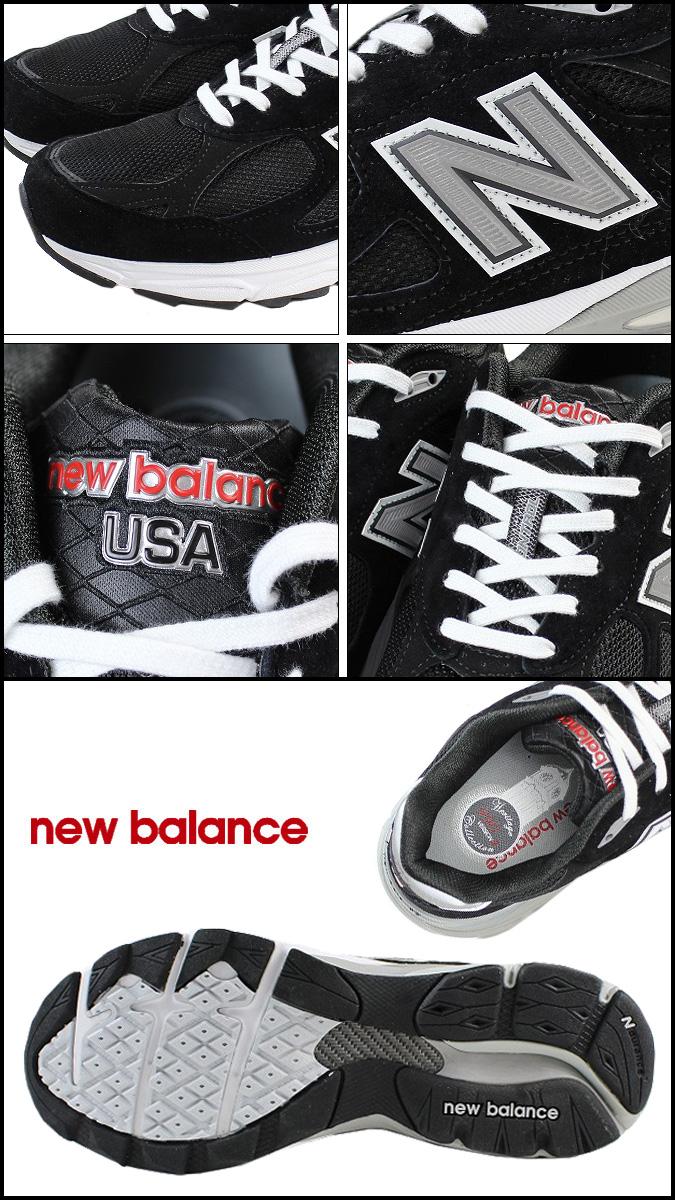 新的平衡新平衡妇女 W990BK3 在美国运动鞋 B 明智麂皮绒 x 网格男装黑色麂皮绒 [定期]