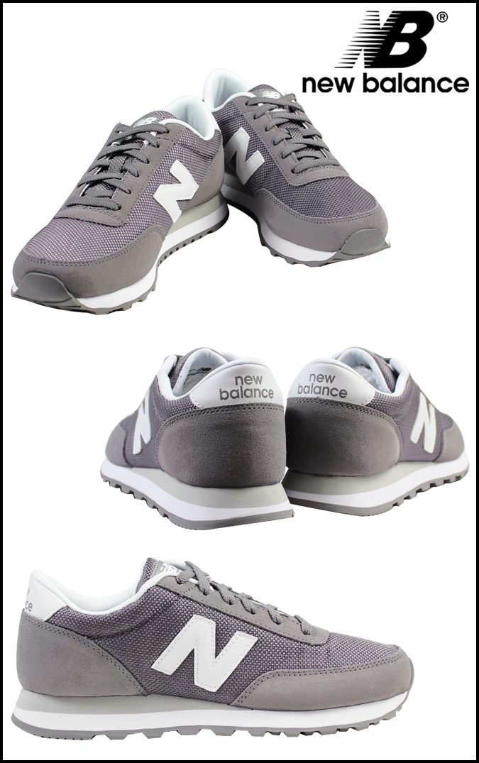 New balance new balance women's WL501BGW sneaker B wise suede mesh men's suede grey [regular]