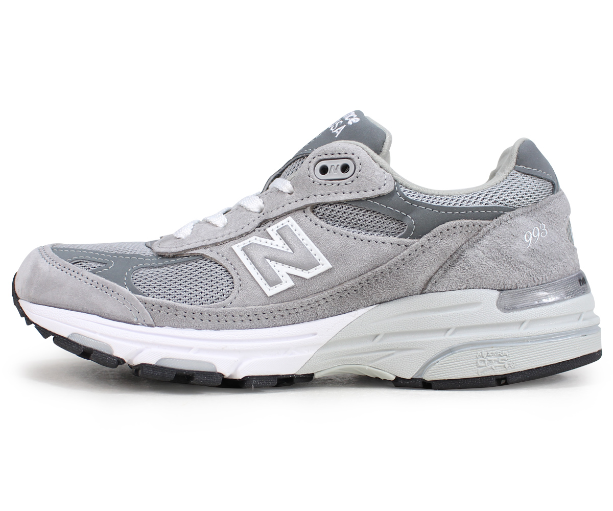 cheap for discount b8f52 a8dbf New Balance new balance 993 lady's men's sneakers gray WR993GL D Wise suede  mesh Made in USA suede cloth