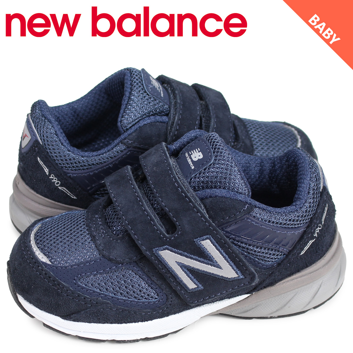 purchase cheap e3602 84d5a New Balance new balance 990 sneakers baby kids navy IV990NV5