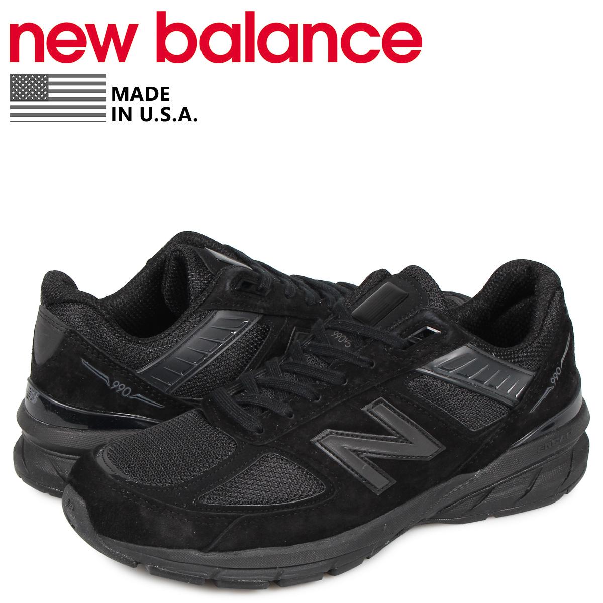 ニューバランス new balance 990 スニーカー メンズ Dワイズ MADE IN USA ブラック 黒 M990BB5 [4/14 再入荷]