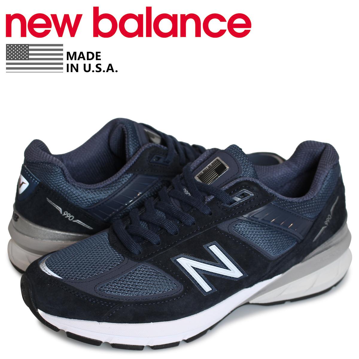 ニューバランス new balance 990 スニーカー メンズ Dワイズ MADE IN USA ネイビー M990NV5 [4/14 追加入荷]