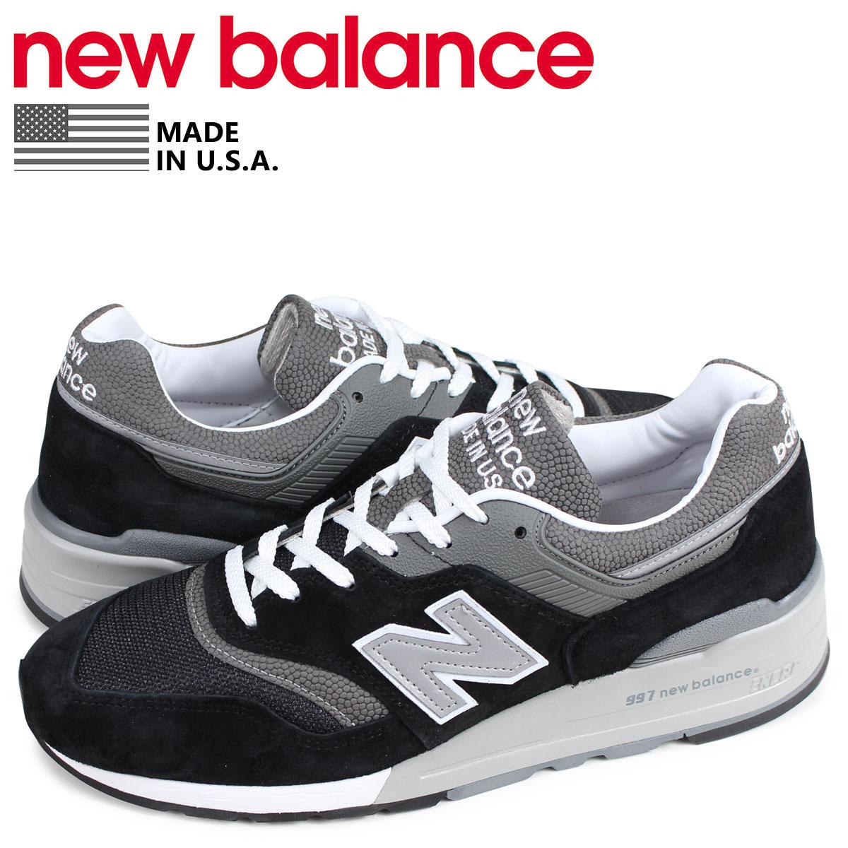 ニューバランス new balance 997 スニーカー メンズ Dワイズ MADE IN USA ブラック 黒 M997BK