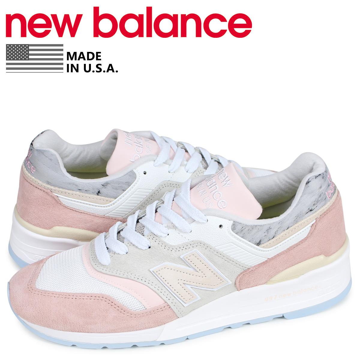 ニューバランス new balance 997 スニーカー メンズ Dワイズ MADE IN USA ピンク M997LBH