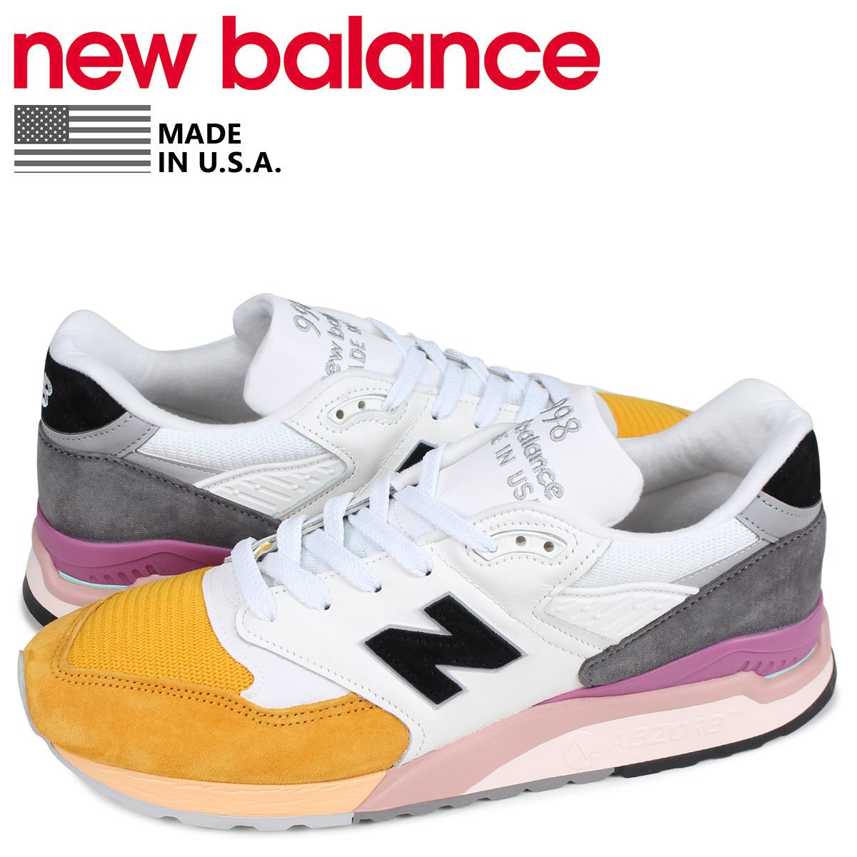 ニューバランス new balance 998 スニーカー メンズ Dワイズ MADE IN USA ホワイト 白 M998PSD