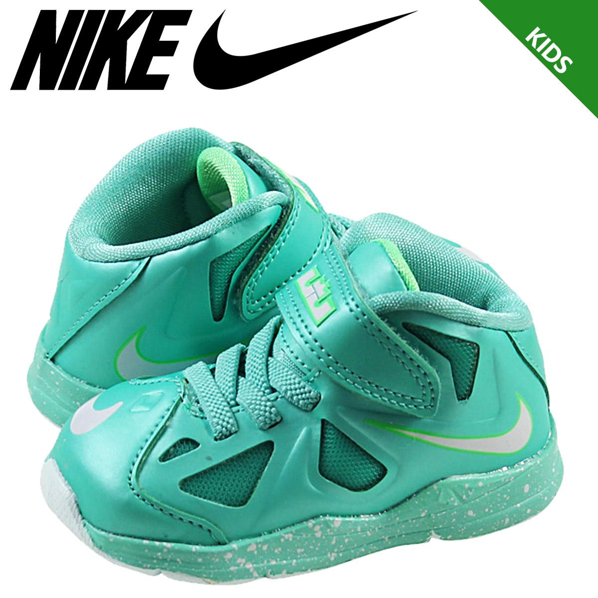 Nike NIKE baby kids LEBRON 10 TD sneakers LeBron ten toddler mesh junior  kids BABY TODDLER 543566-303 GREEN 8e8967668ccd