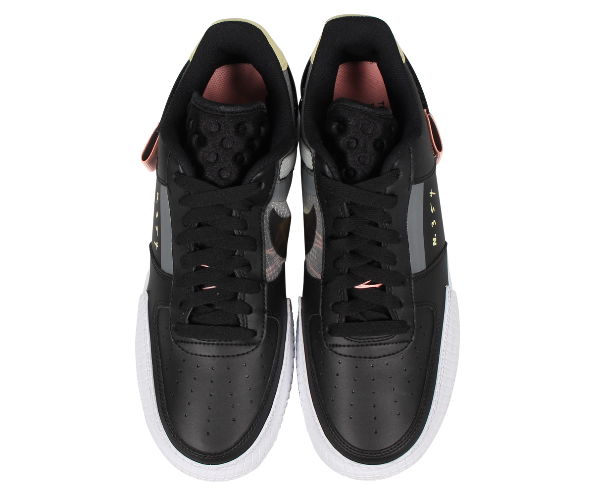 nike wmns air force 1 type af1 black white shoes ci0054 001