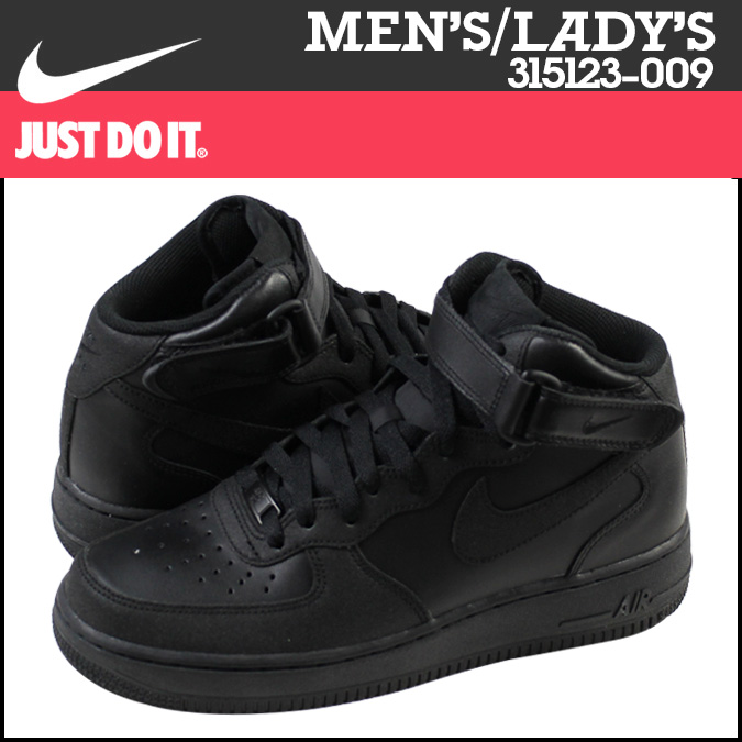 all black high top air forces nike ...