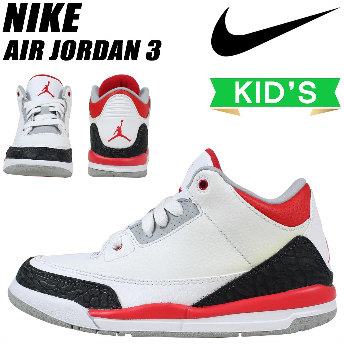 45772298025 ... Nike NIKE Air Jordan sneakers kids AIR JORDAN 3 RETRO PS FIRE RED Air  Jordan ...