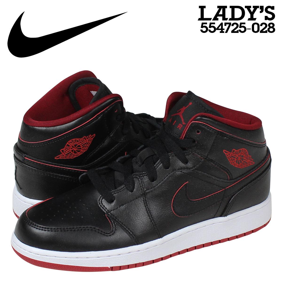 Nike Air Jordan 1 Mid BG Black Triple Black 554725 030