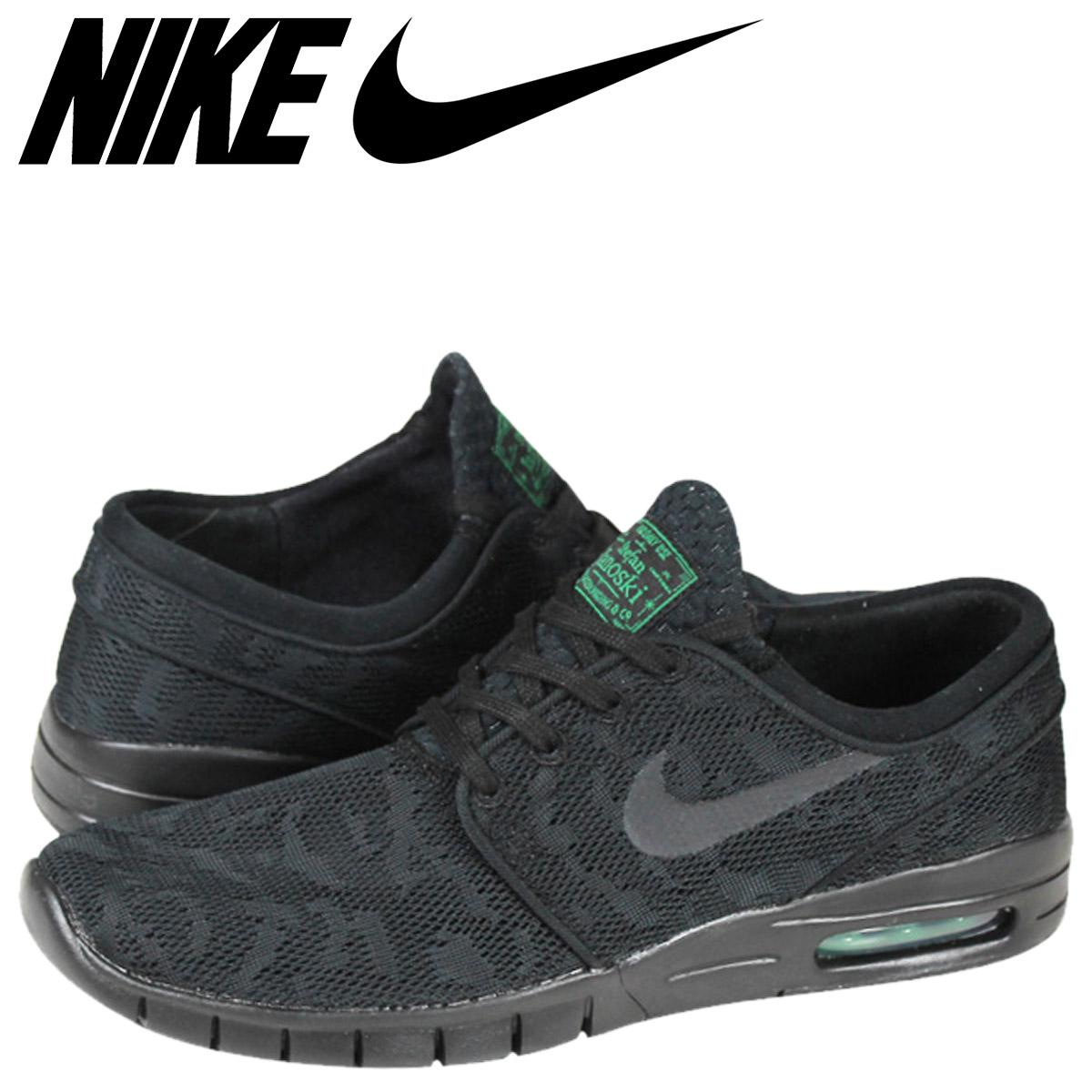 Nike NIKE SB STEFAN JANOSKI MAX sneakers skateboarding Stefan janoski Max mesh mens 631303-003 BLK/BLK-P. GRN black [1 / 6 new in stock] [regular] ★ ★