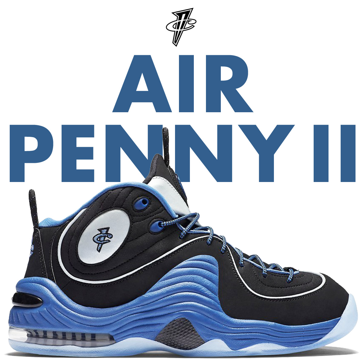 Nike NIKE air penny 2 sneakers AIR PENNY 2 333,886-005 men's shoes blue  [7/6 Shinnyu load]