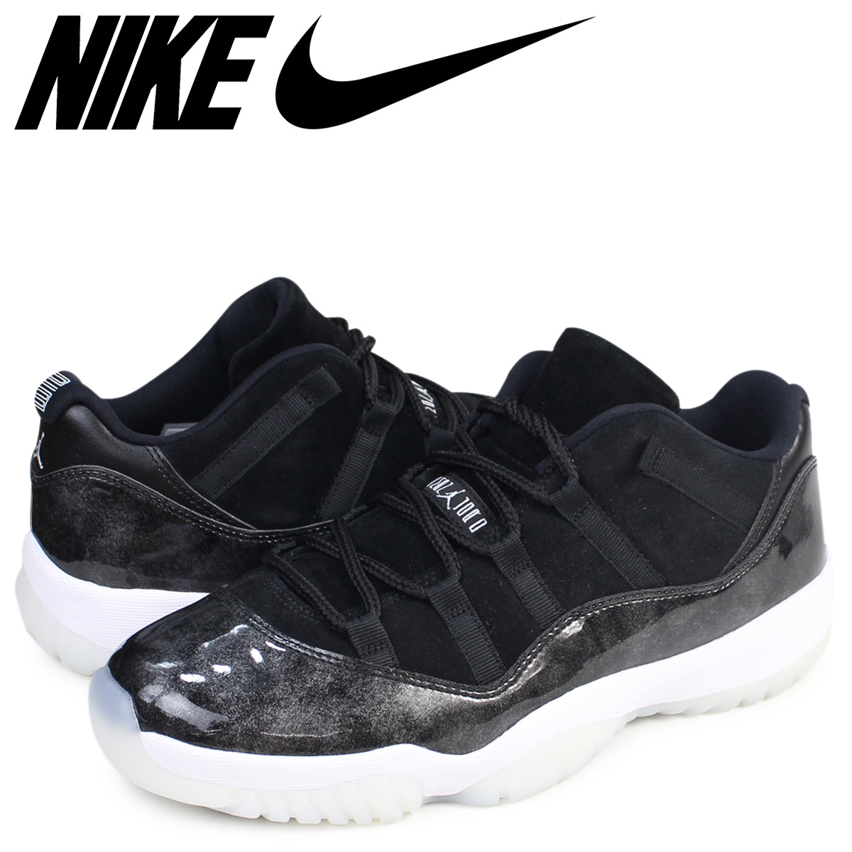 timeless design e88bb d9f2e Nike NIKE Air Jordan 11 sneakers AIR JORDAN 11 LOW BARONS low 528,895-010  men's black